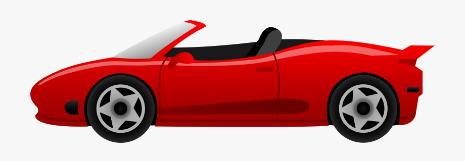 Red car clipart clear background. Cartoon clip art free