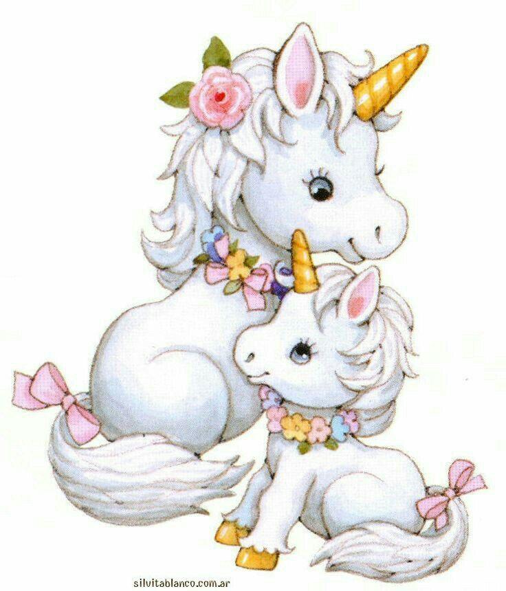 Artwork mommy unicorn.