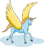 Flying Unicorn Fantasy Clipart