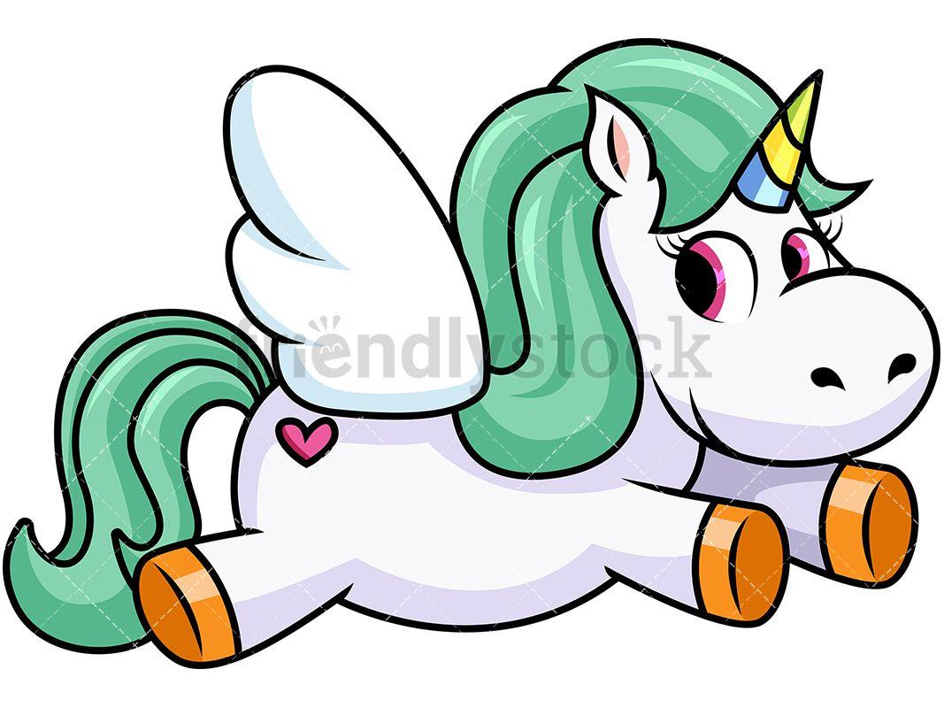 Flying unicorn with.