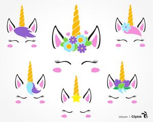 Free printable unicorn.
