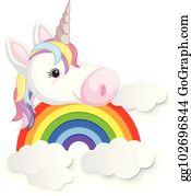 Rainbow unicorn clip.