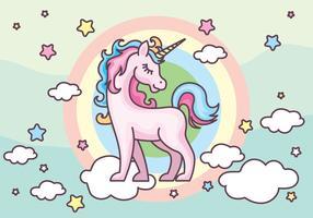 Unicorn free vector.