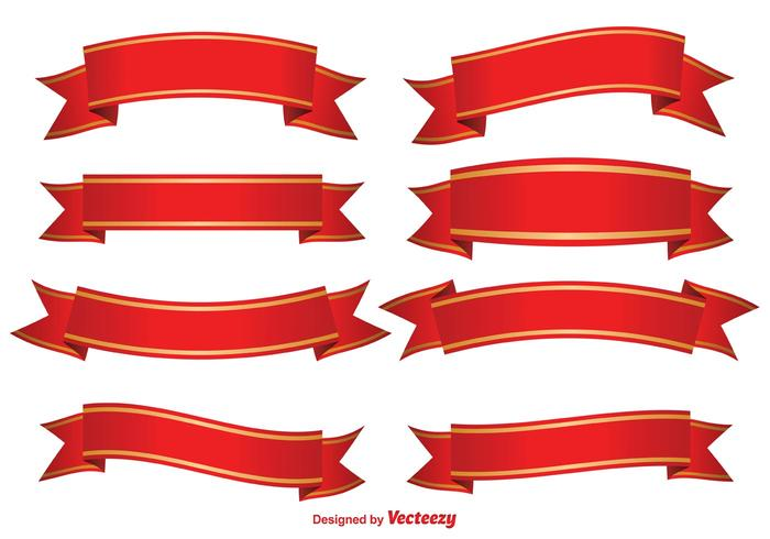 Red decorative banners.