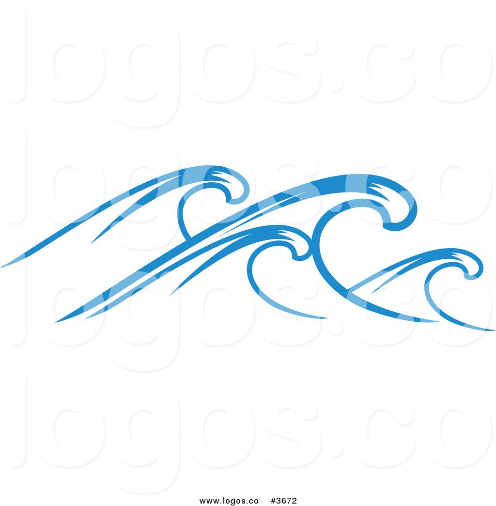 Royalty Free Ocean Wave Logo by Vector Tradition SM