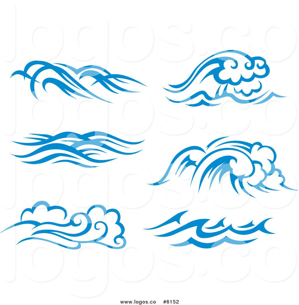 Royalty Free Clip Art Vector Logos of Blue and White Ocean