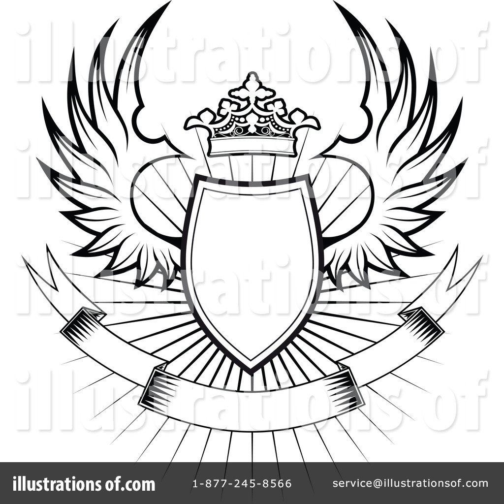 Winged shield clipart.