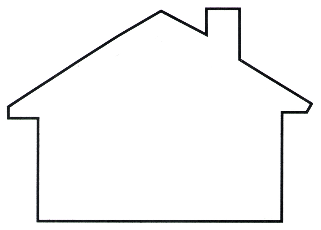 House outline cliparts.