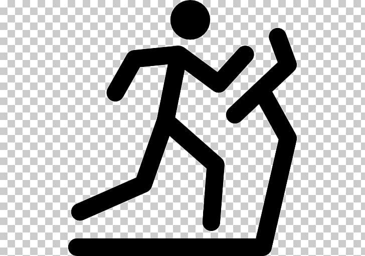 Stick figure Running Sport , Fitness Treadmill PNG clipart