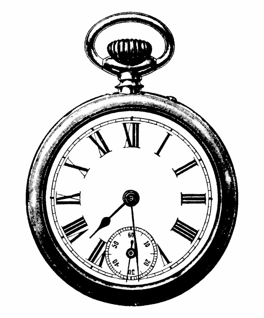 Vintage clock png.