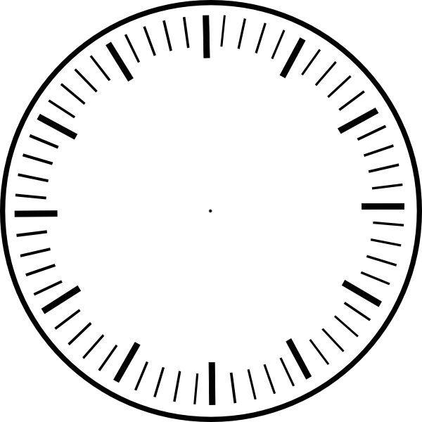 Clock face printable.
