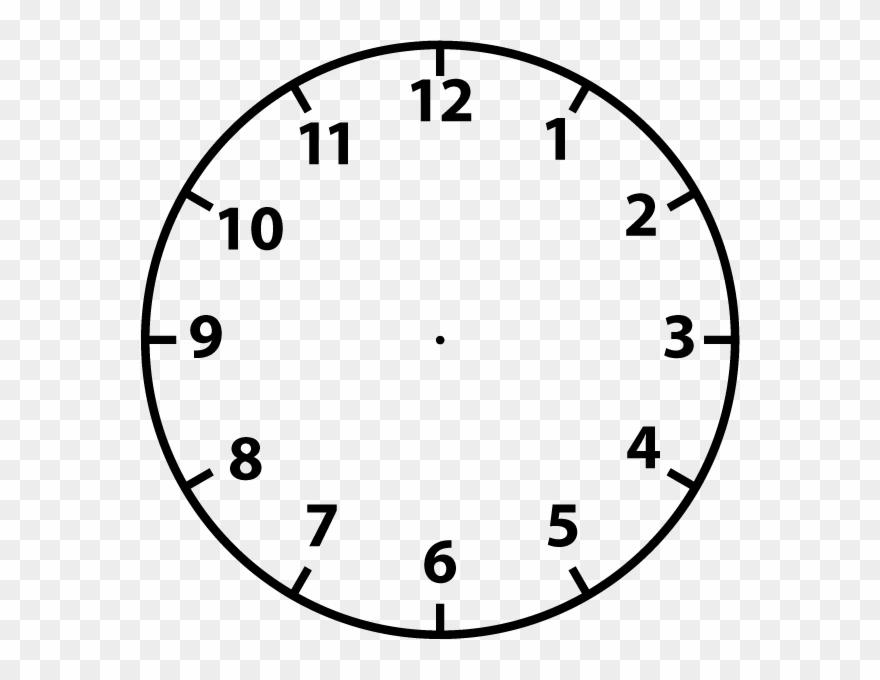 Clock face clip.