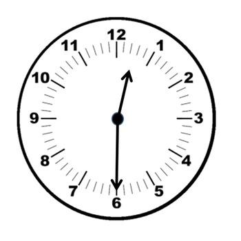 Clock clipart half.