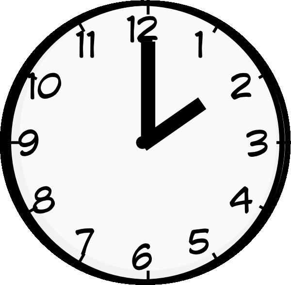 Clocks clipart half.