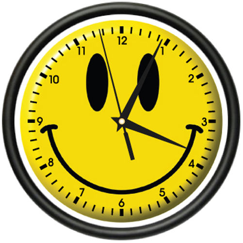 Free clock smile.