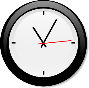 Modern clock clip.