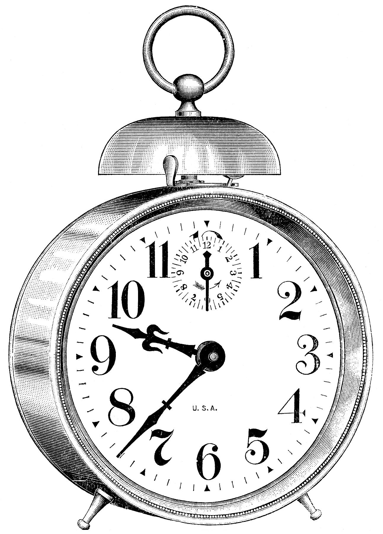 Clock graphics vintage.