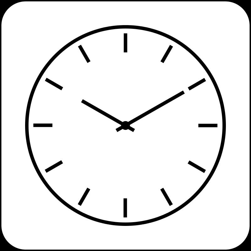 Free simple clock.