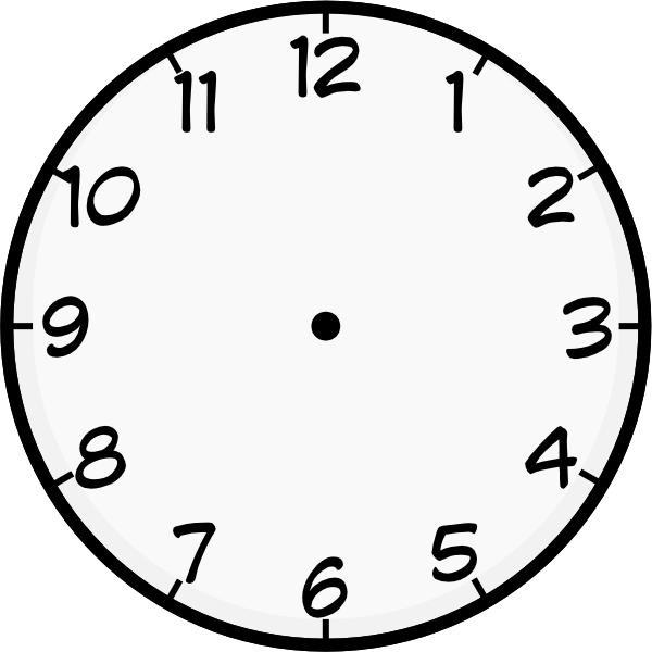 Clock template printable.