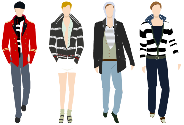 fashion clipart male