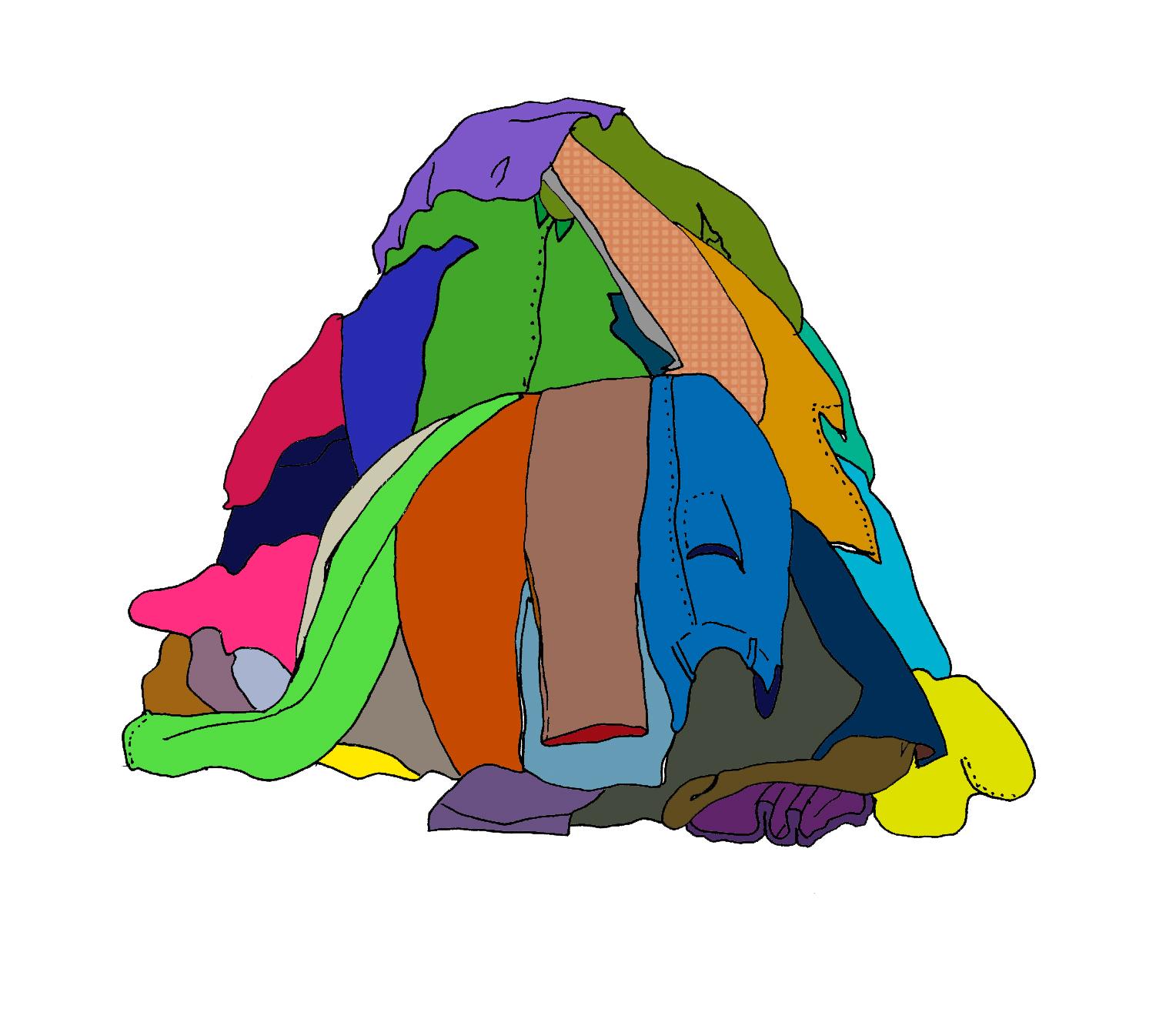 Pile clothes clipart.