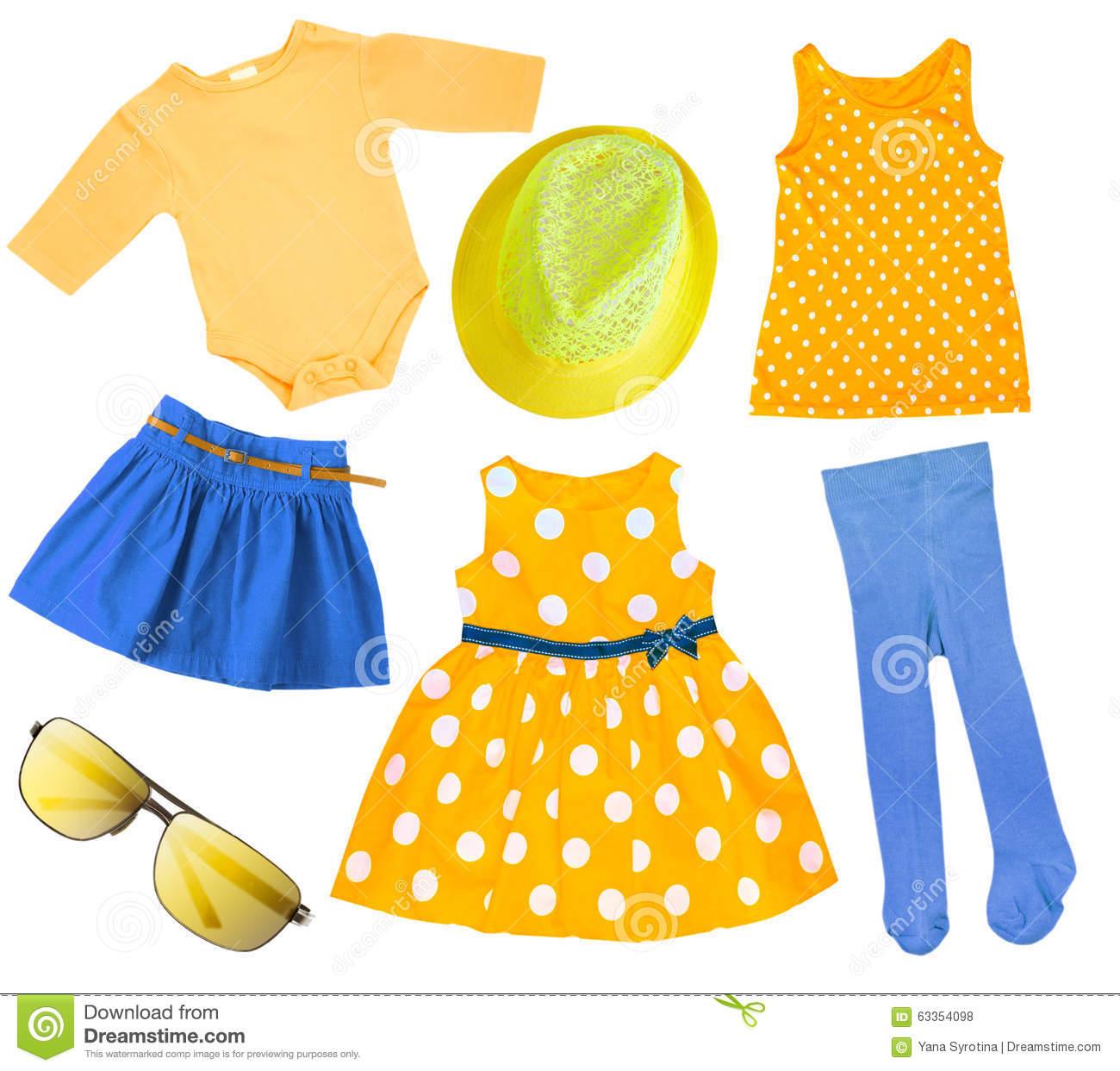 Spring season clothes clipart