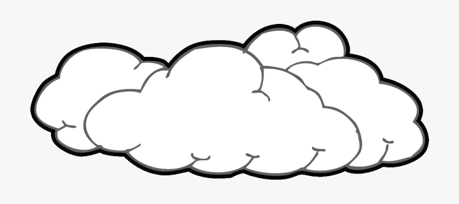 Clouds clipart black.
