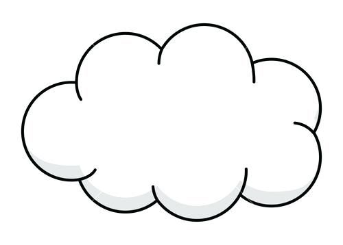 Pin cloud clipart.