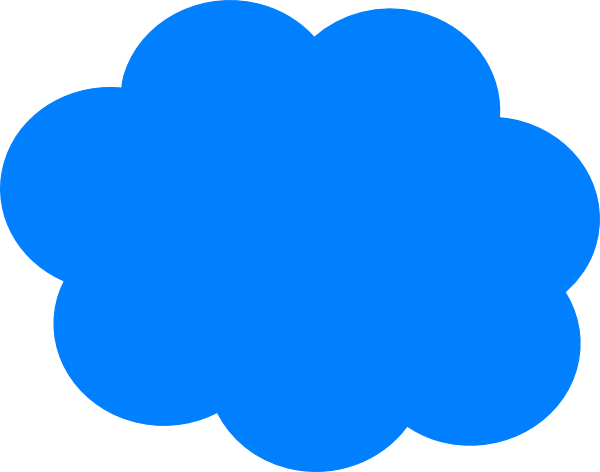 Blue cloud clip.