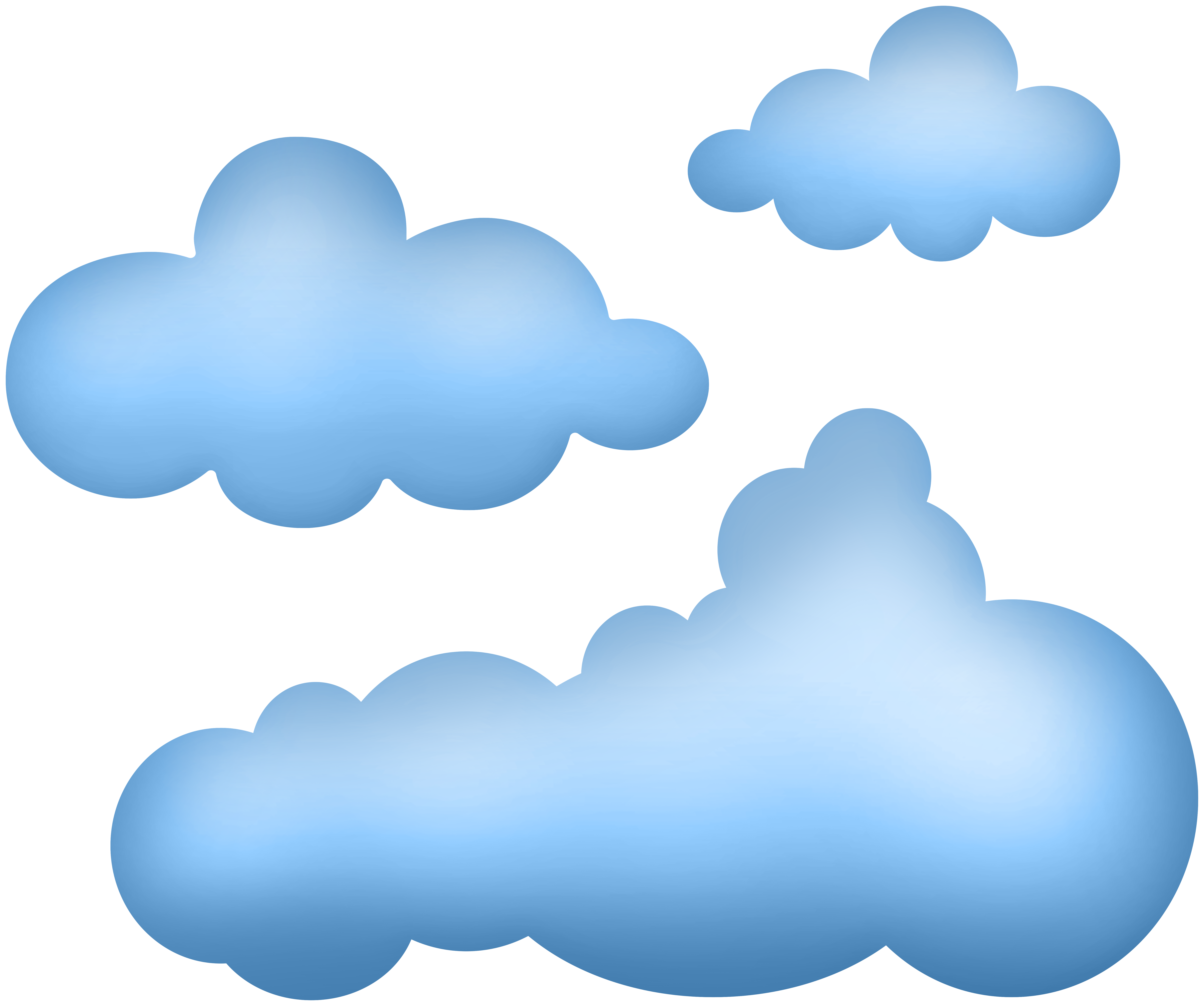 Cartoon clouds png.