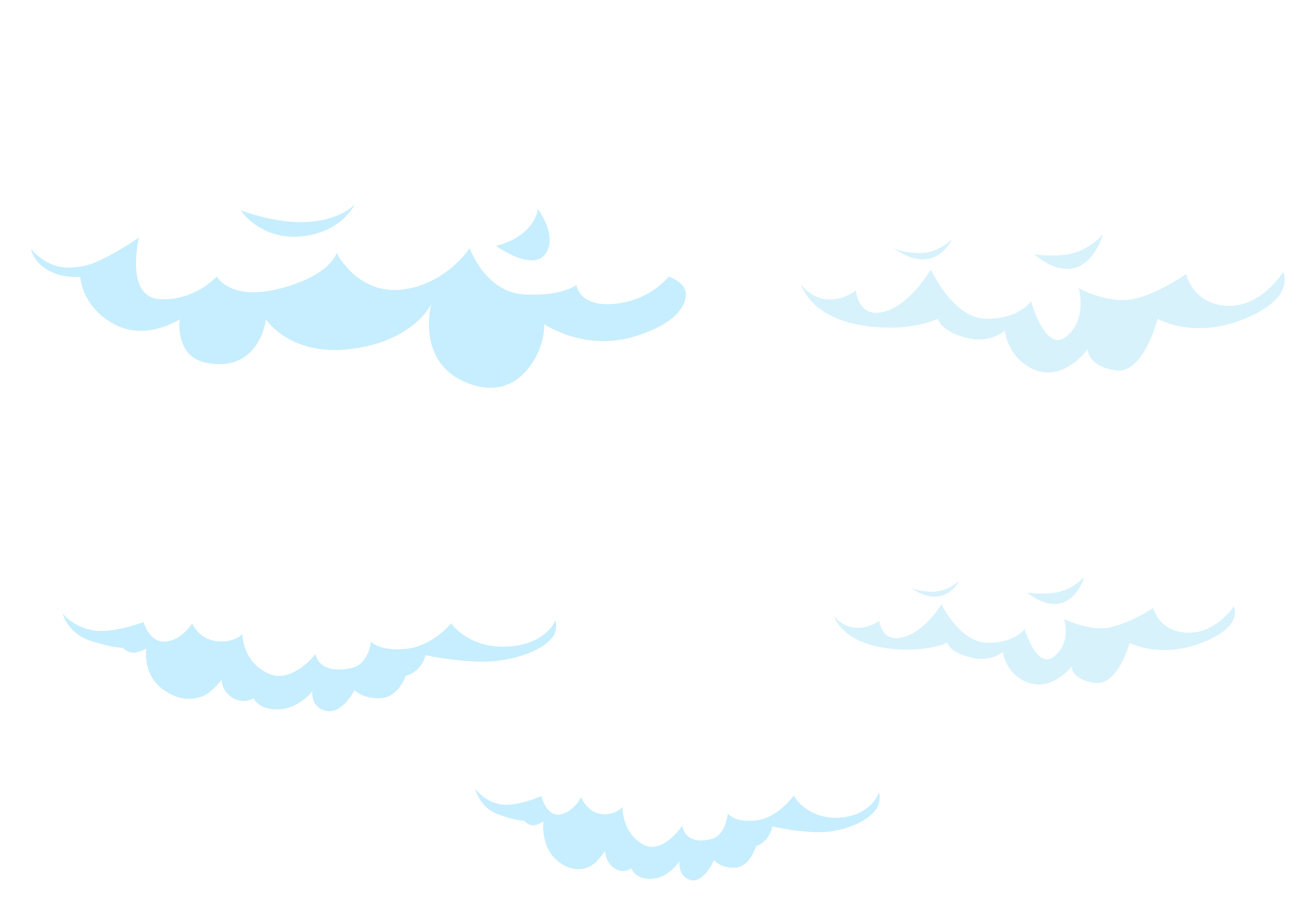 Cartoon clouds set.