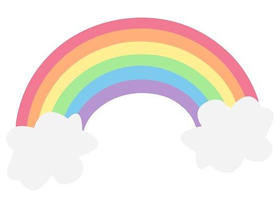 Pastel rainbow with.