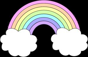 Pastel rainbow clip.