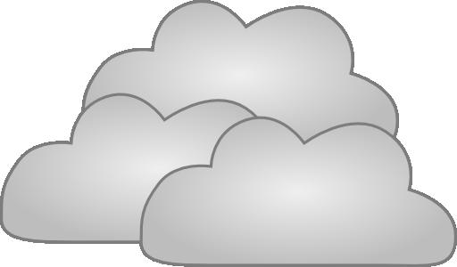 Three cloud clipart.