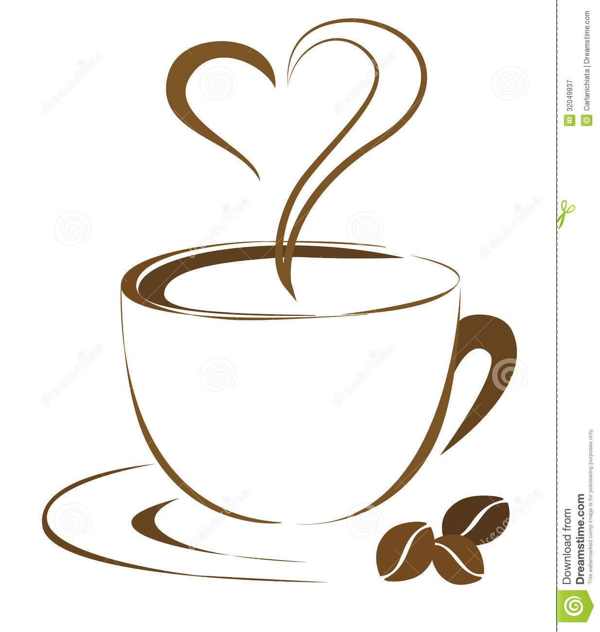 Coffee cups clipart.