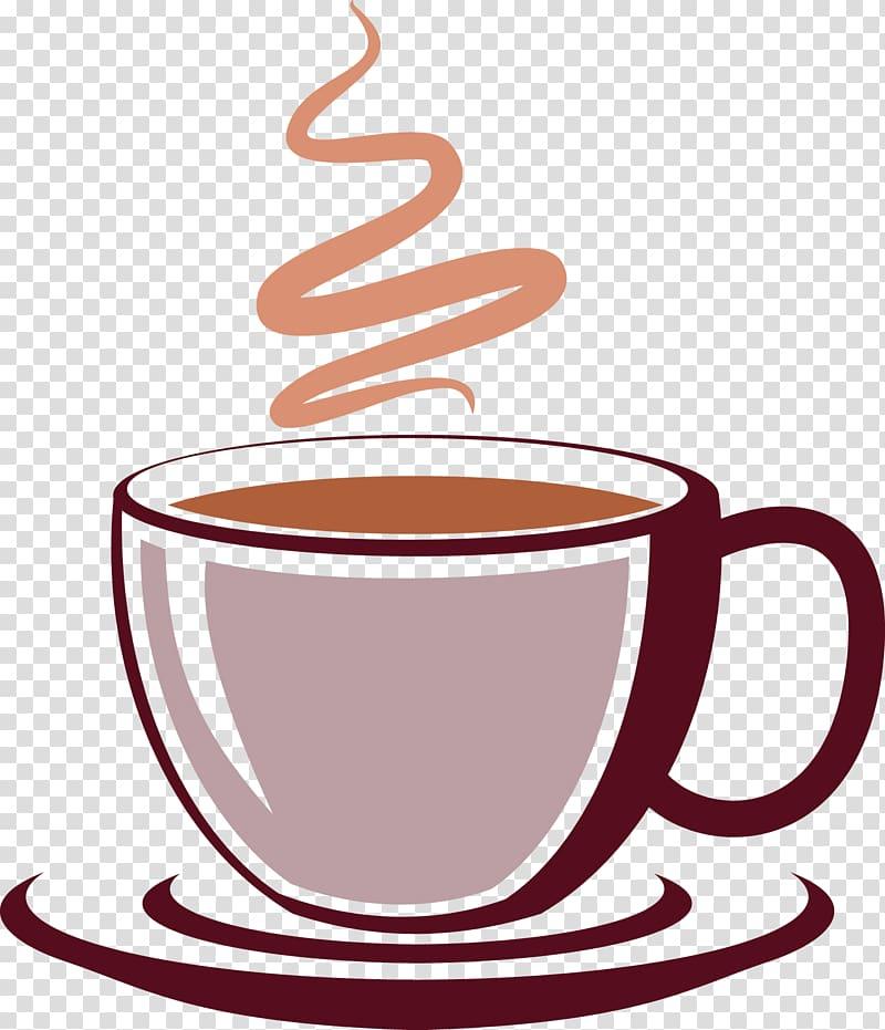 Mug with coffee.