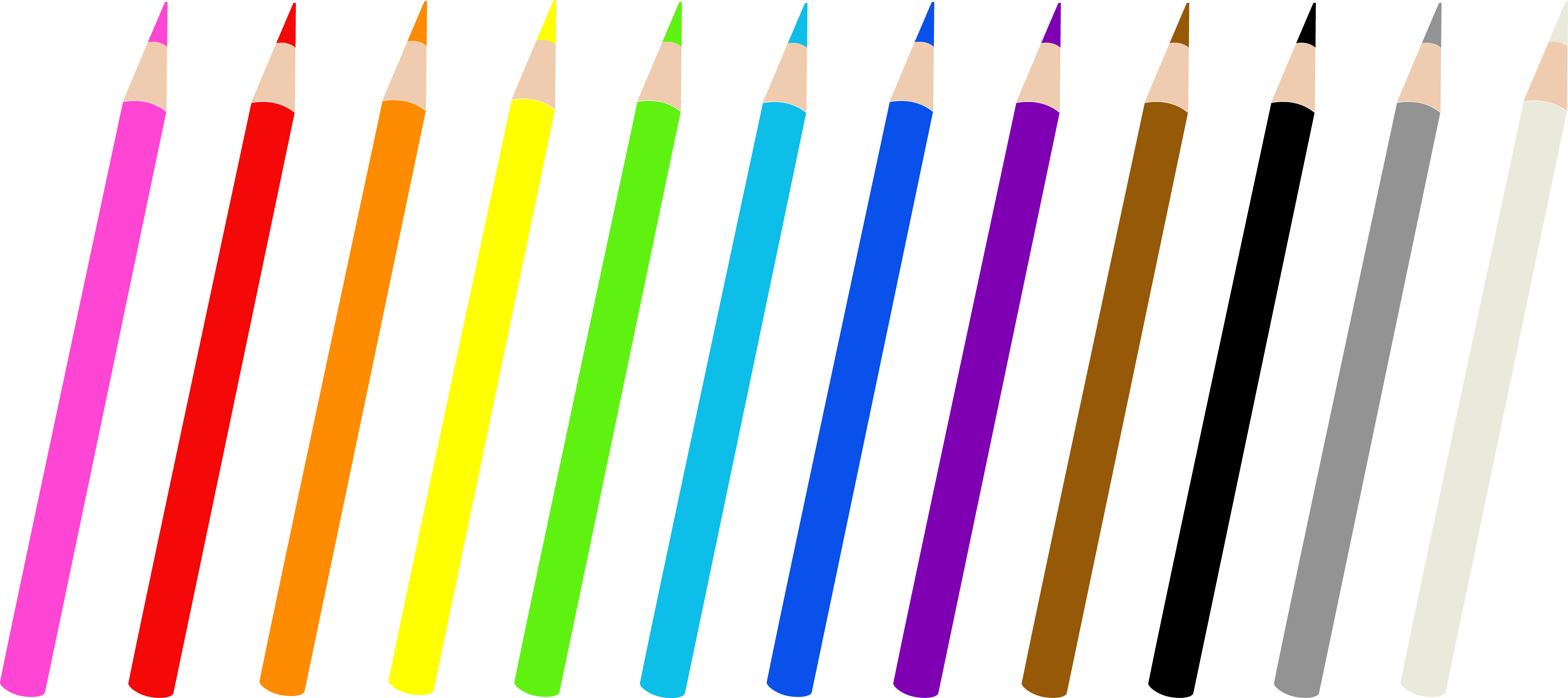 Free colored pencils.