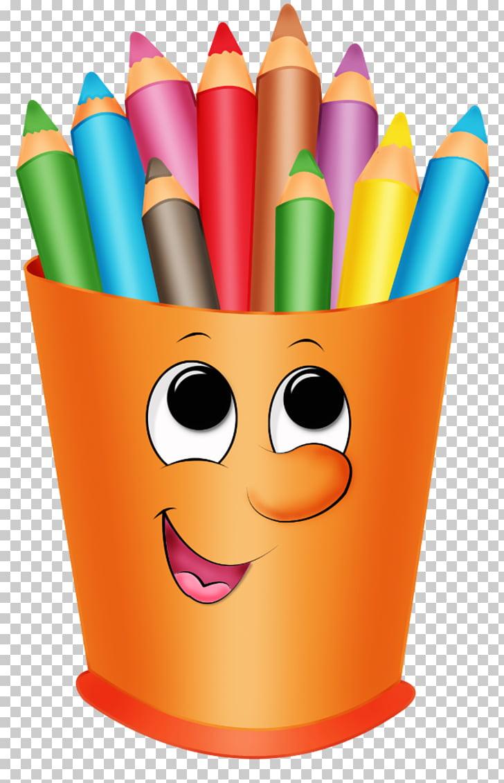 Colored pencil crayon.