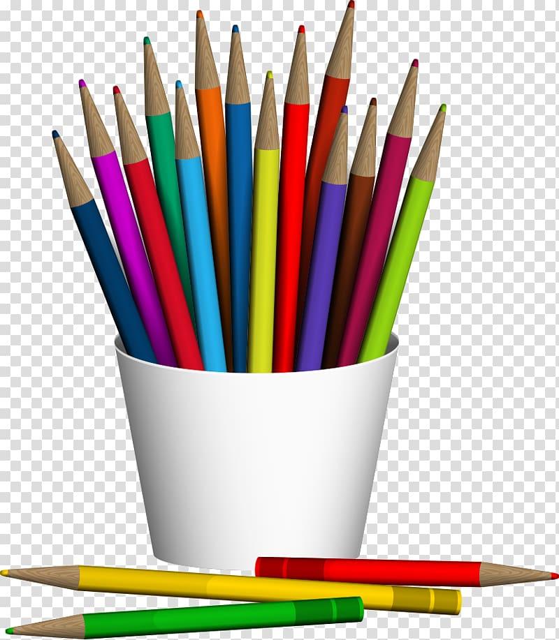 Assortedcolor pencil crayons.