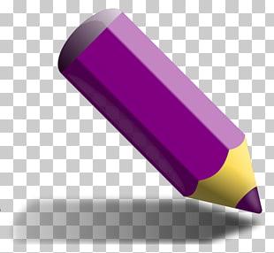 Colored pencil purple.