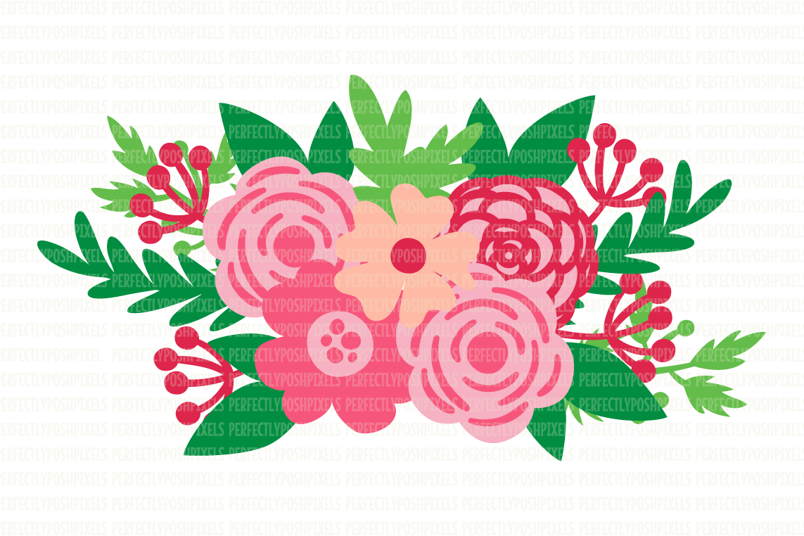 Floral Swag SVG Files Flower SVG Files Floral Cut Files Digital Vector  Printable Clipart DXF EPS PNG JPG Cut Files Digital Circuit Design Files