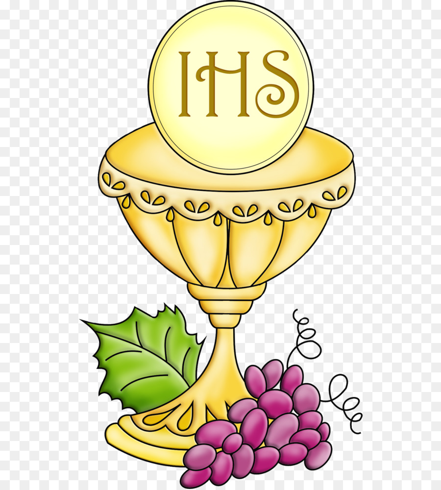 Communion clipart holy. Yellow flower eucharist food