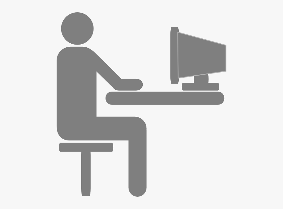 Person sitting computer.