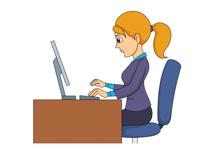 Girl computer clipart.