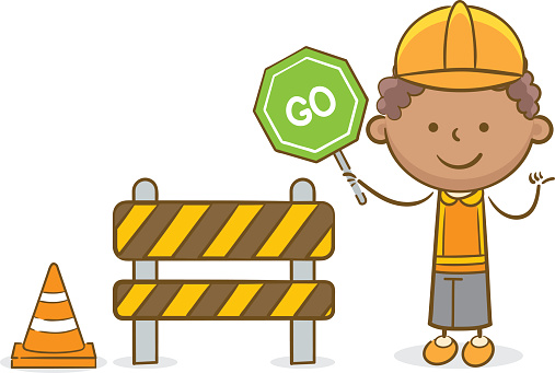 Kid construction worker clipart