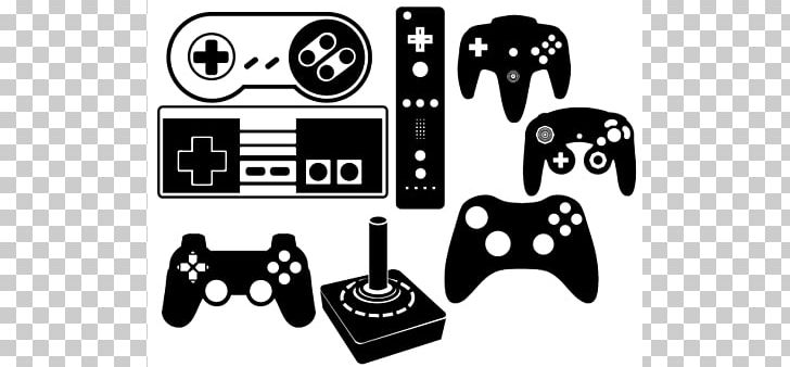 Black game controller.