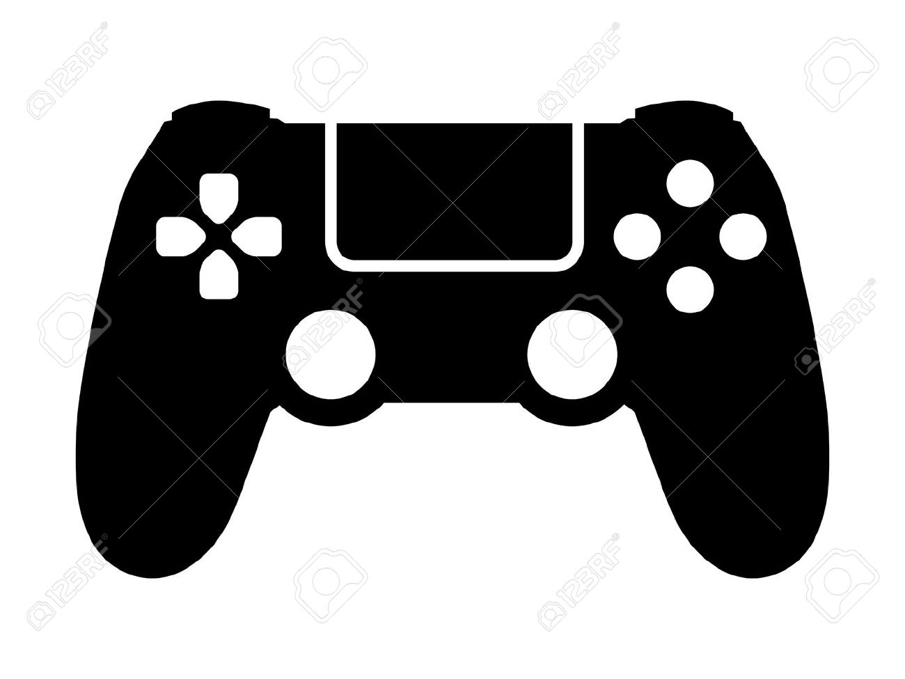 Gaming controller clipart.