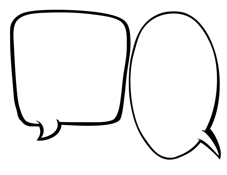 Blank conversation bubble.