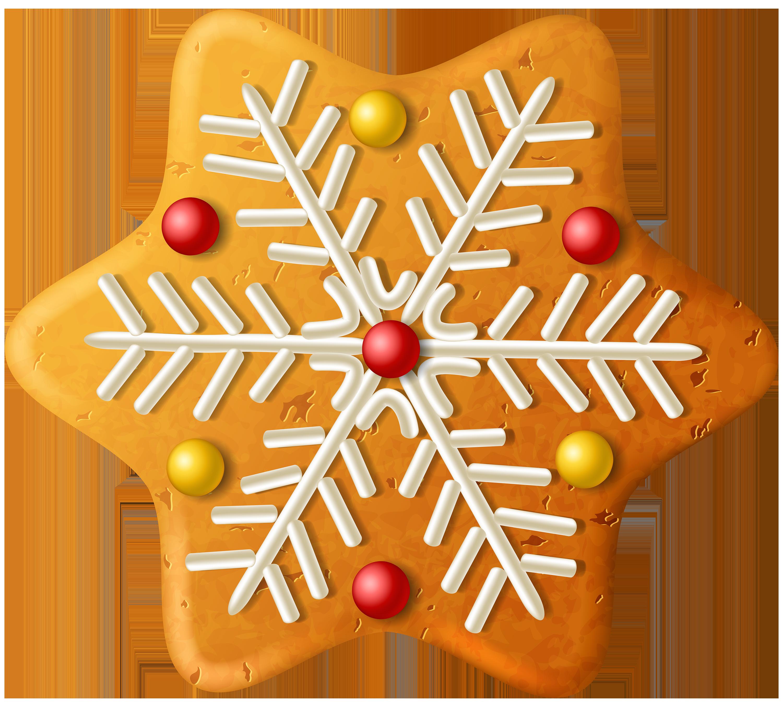 Christmas cookie snowflake.