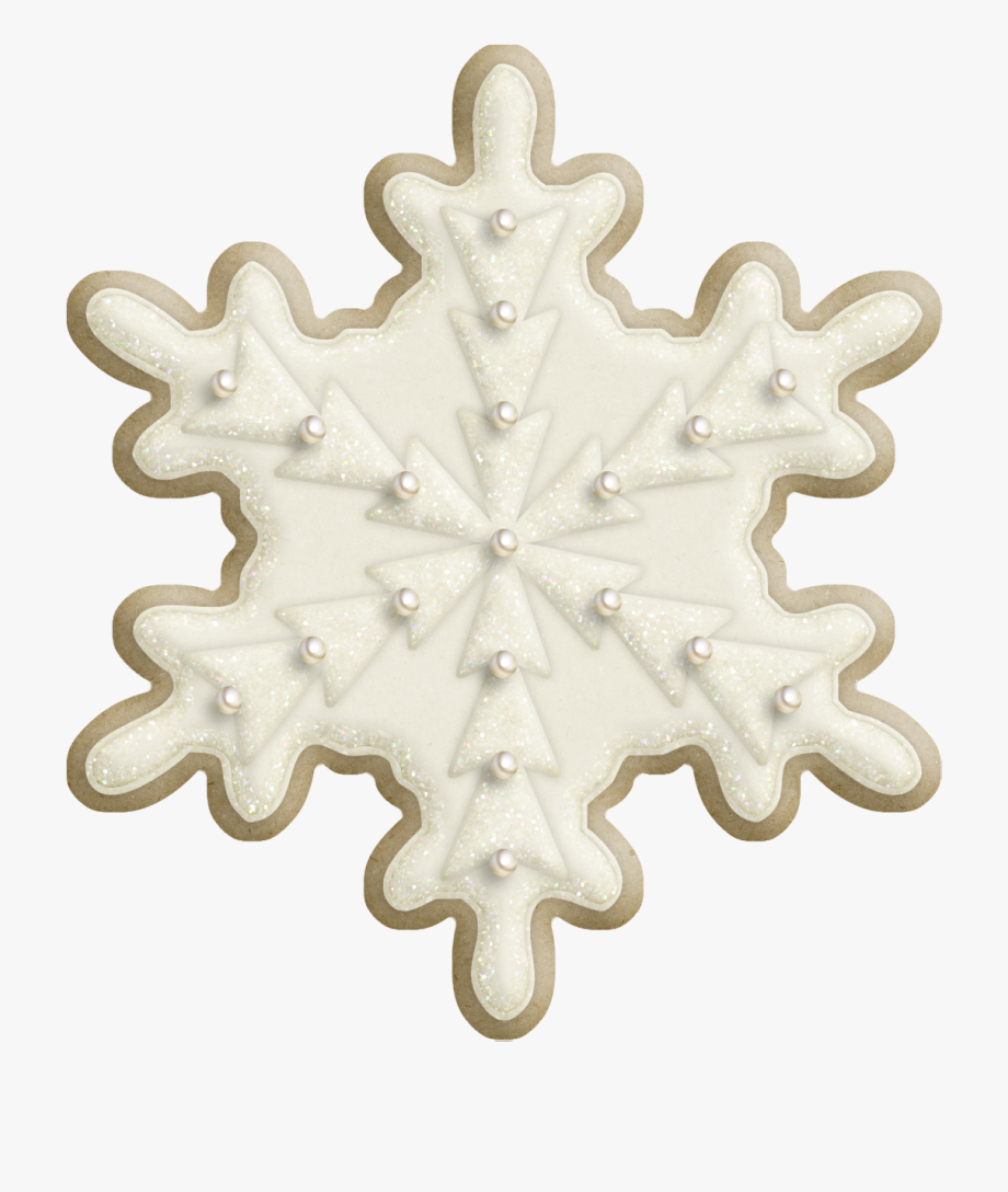 Snowflake cookies christmas.